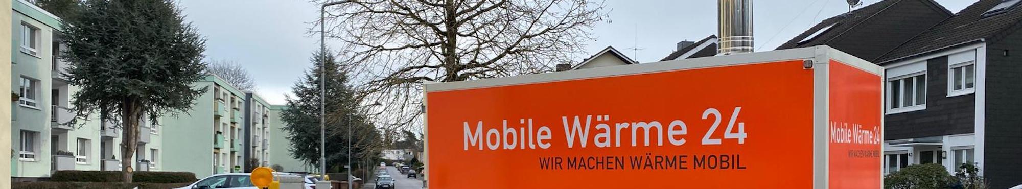 Heizmobil von Mobile Wärme 24 in Wohngebiet